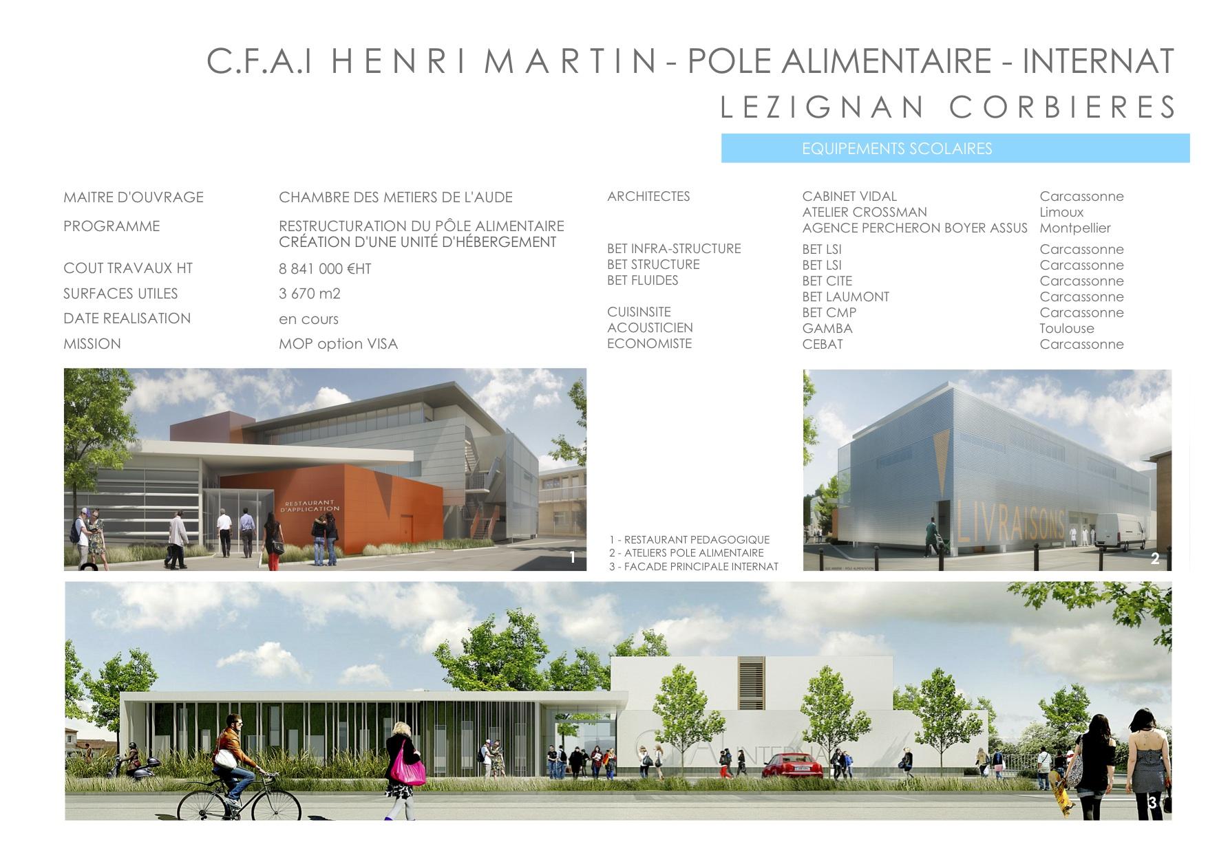 REALISATIONS ATELIER d ARCHITECTURE CROSSMAN